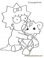 Dibujos Simpsons para colorear
