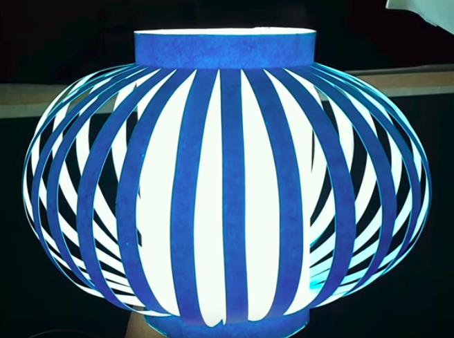 Como hacer con tus propias manos una lamparita decorativa de papel