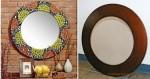 Como hacer con tus propias manos un renovado espejo con marco con mosaico