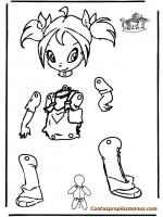 Marionetas para colorear y montar con tus propias manos