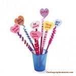 Como hacer con tus propias manos unos lapiceros para el dia de San Valentin