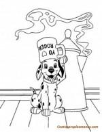 Dibujos disney para colorear-101 Dámatas