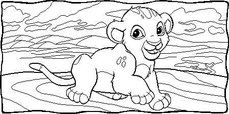 Dibujos para colorear de Disney El Rey Len  Contuspropiasmanoscom