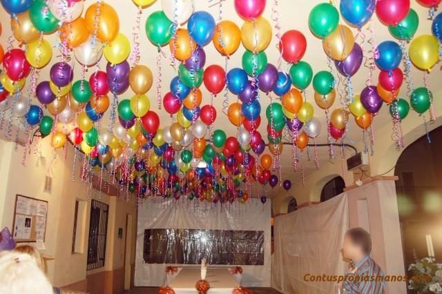 globos en el techo