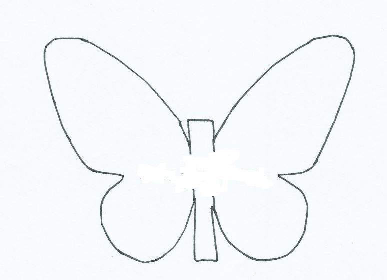 mariposa de papel plantilla 2