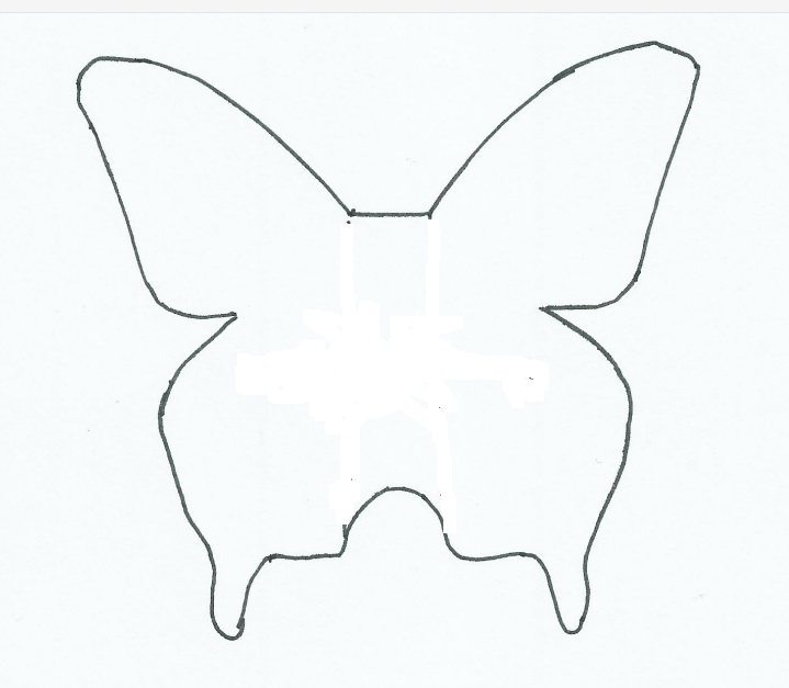 mariposa de papel plantilla