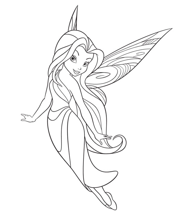 Hadas para colorear silver mist coloring pages