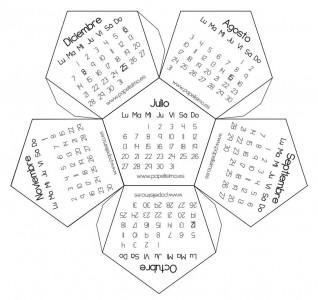 calendario 3d poliedrico 2