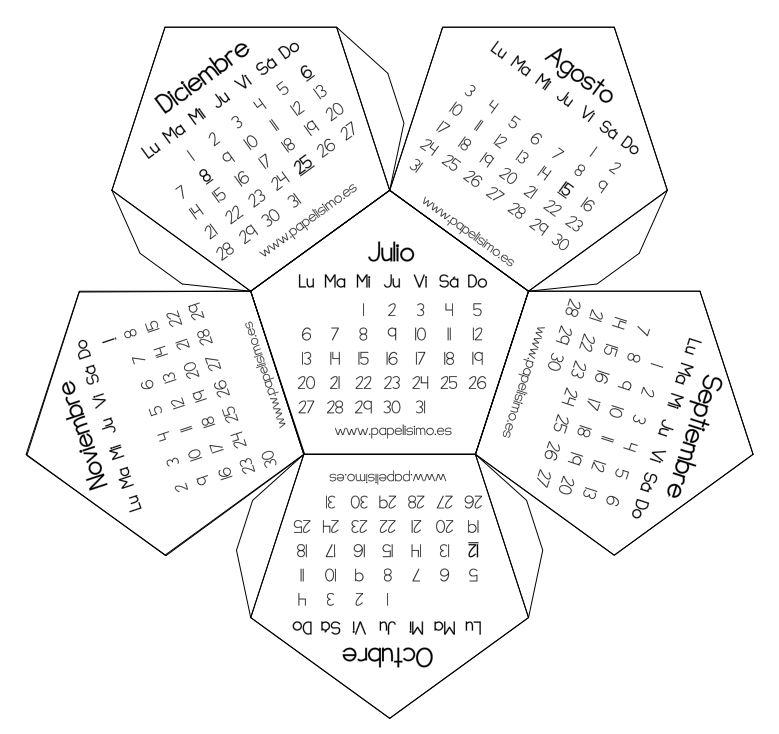 Calendario 3D | Con tus propias manos
