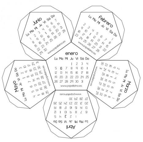 calendario 3d poliedrico