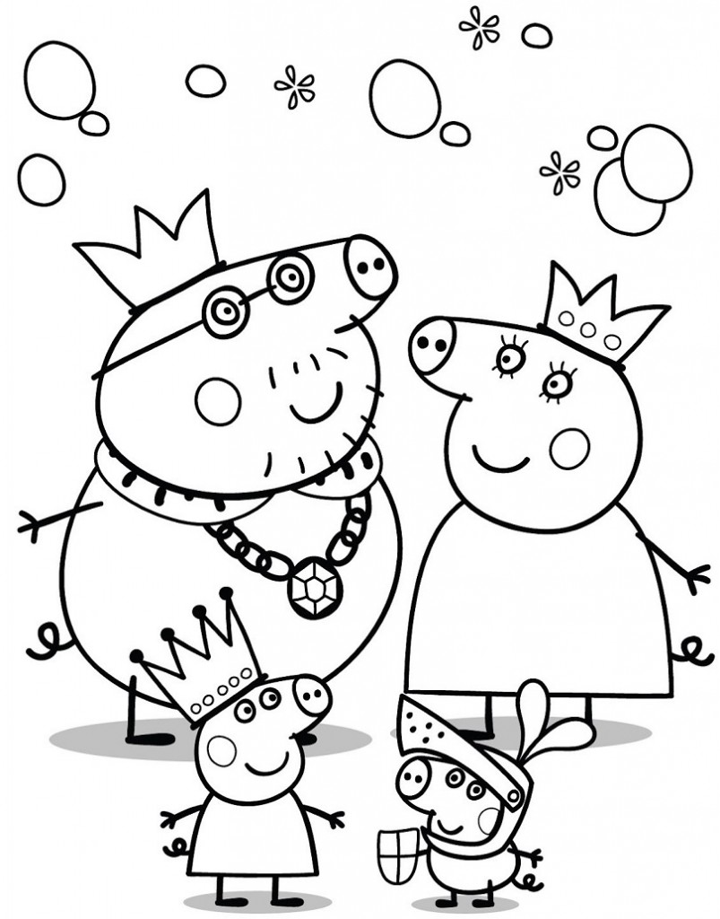 Dibujos de Peppa Pig para colorear   Con tus propias manos