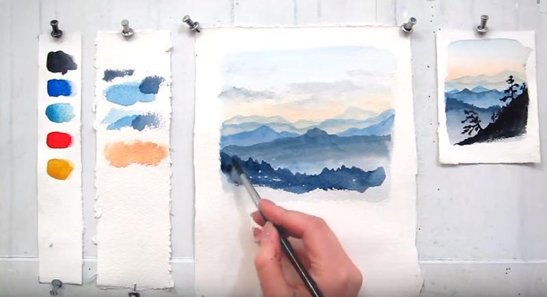 pintar paisajes con acurelas