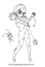 LadyBug – Dibujos para colorear