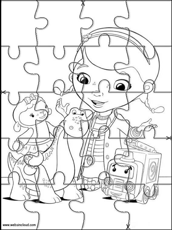 Puzzles infantiles para colorear