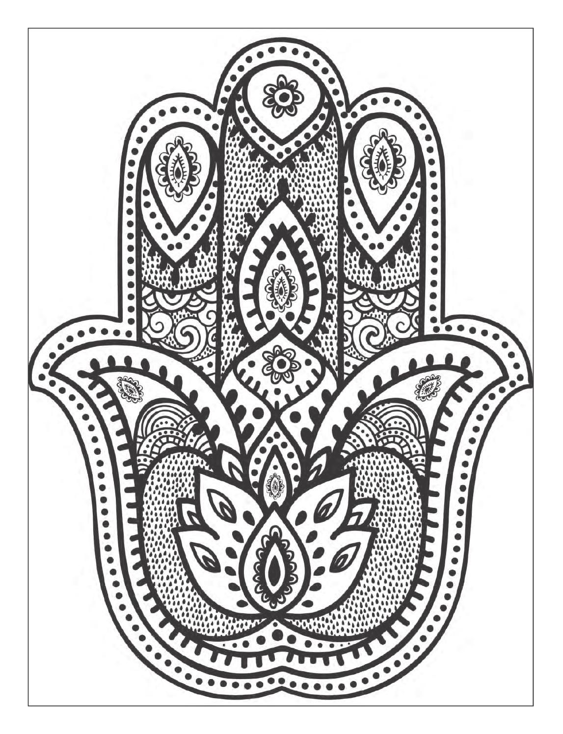 hindu hand coloring pages - photo#1