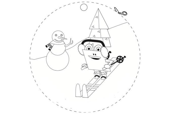 Dibujos Para Tarjetas De Navidad Para Colorear