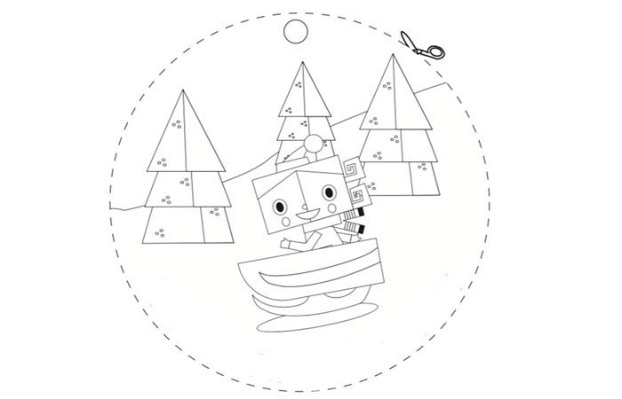 Dibujos De Navidad De Disney Para Colorear: Dibujos Para Tarjetas De Navidad Para Colorear